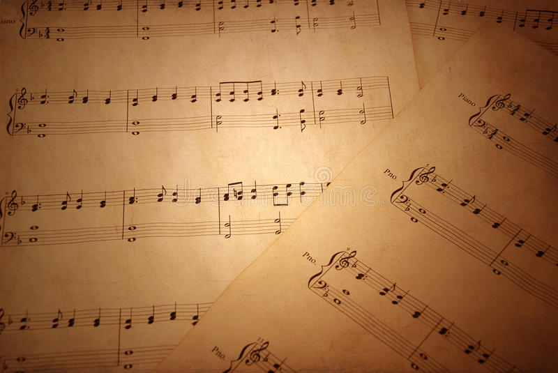 Download Old sheet music stock image. Image of grunge, lines, sepia - 17181381