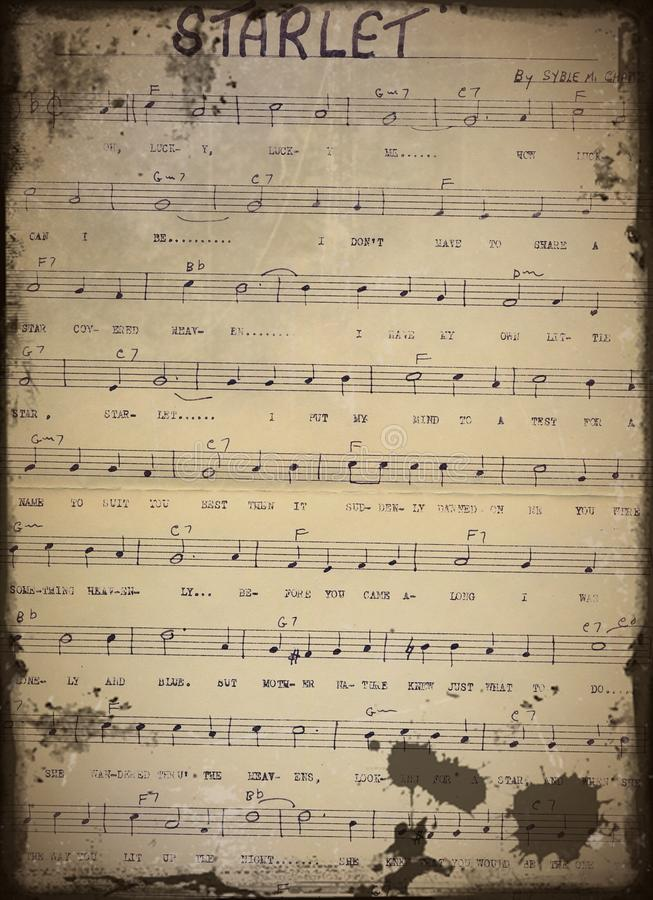 Old Sheet Music stock photography
