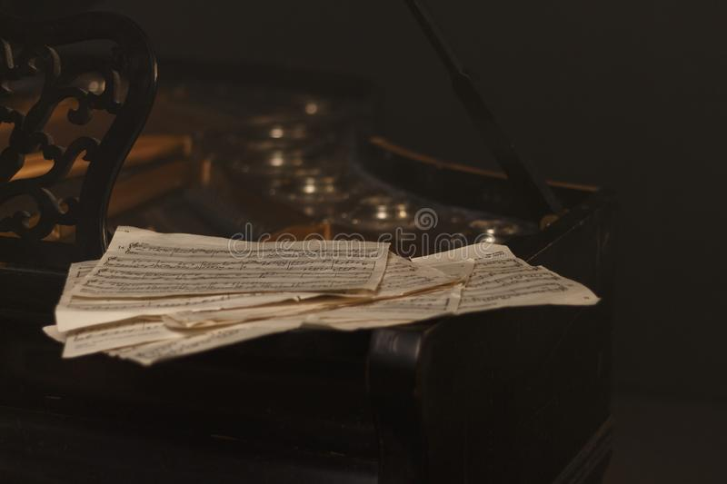 notes on the piano royalty free stock photography