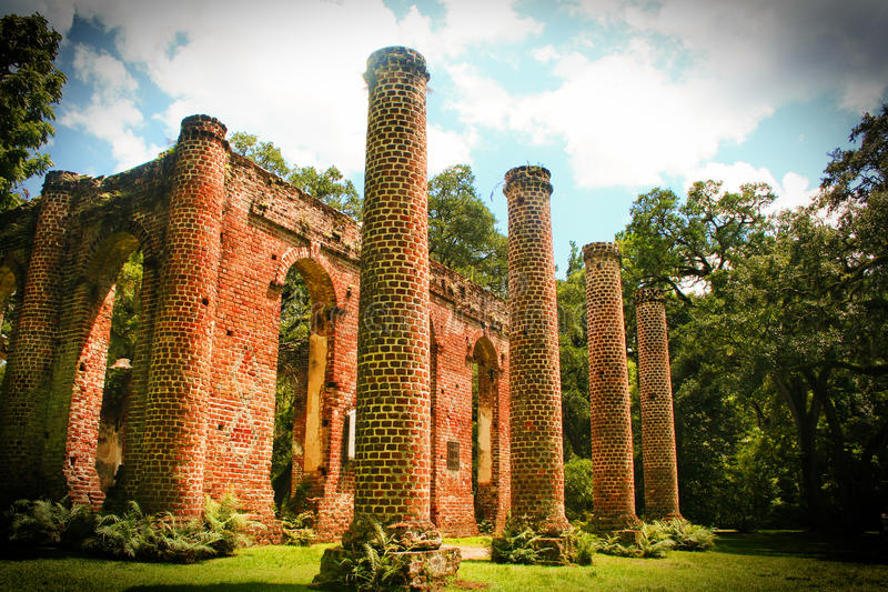 Old Sheldon Church Ruins royalty free stock photos