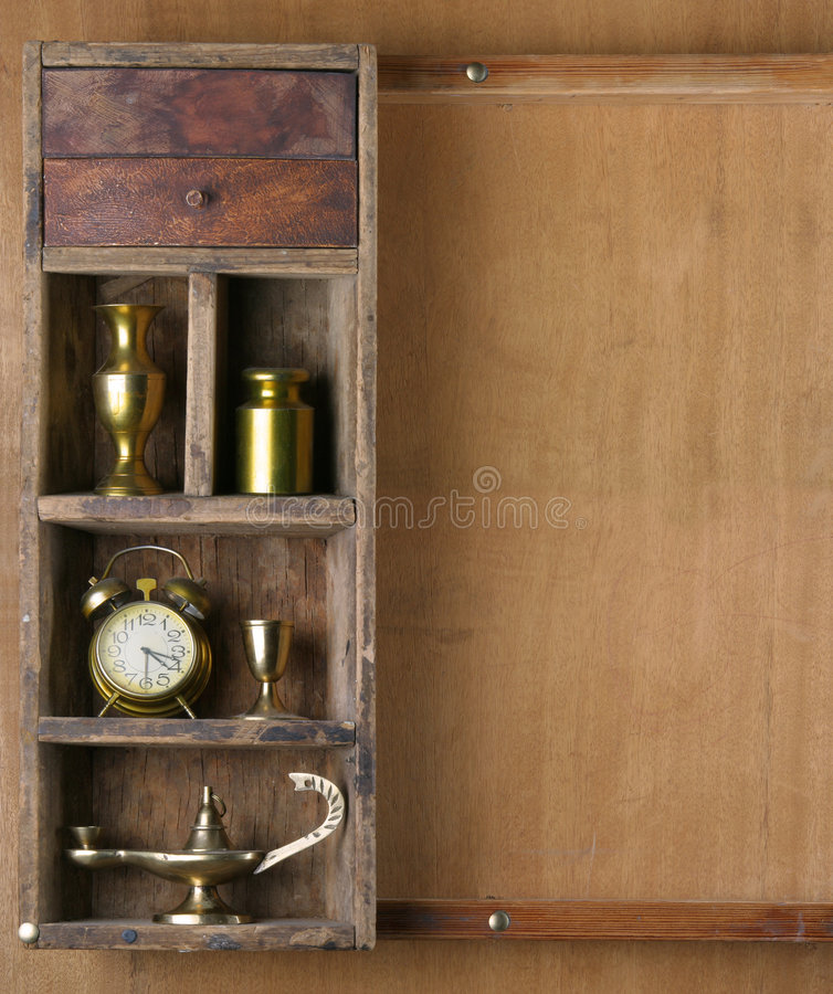 Download Old Shelf With Subjects Royalty Free Stock Images - Image: 9150419