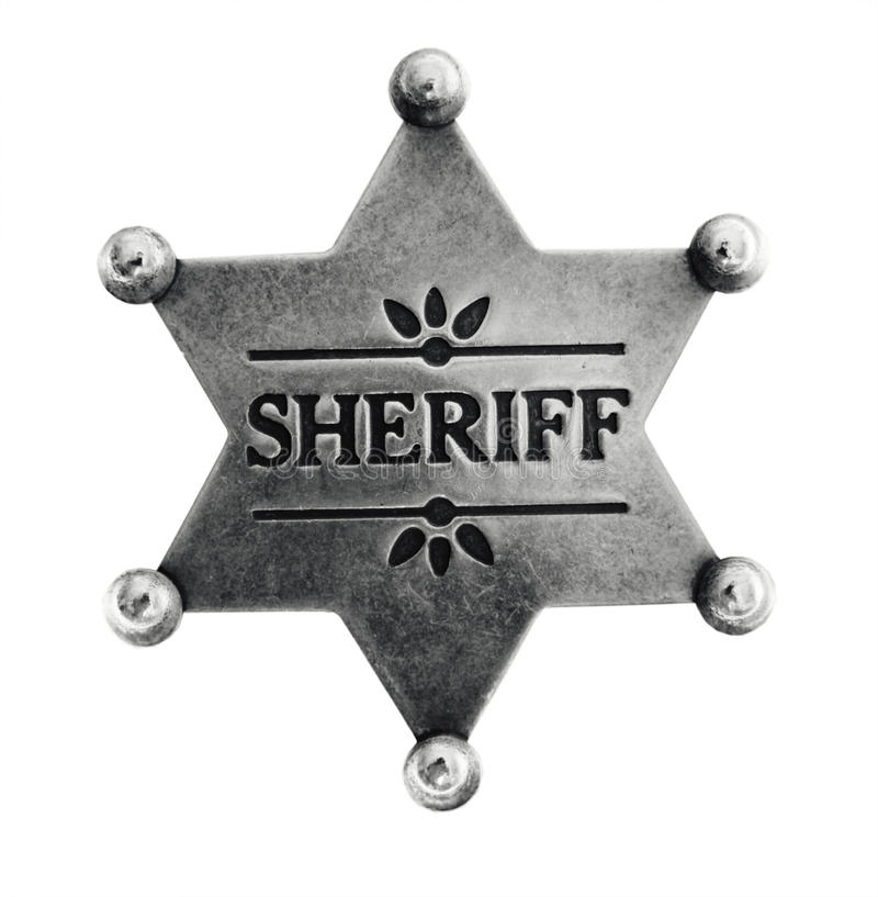 Free Old Sheriff Star Badge Stock Photography - 11115772