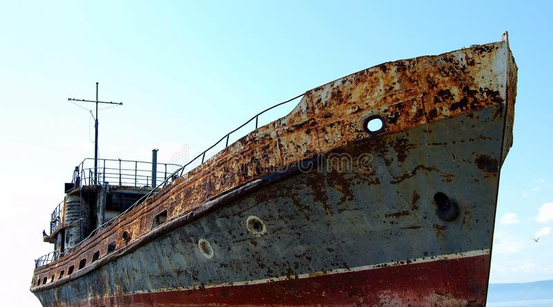 Old ship stock image