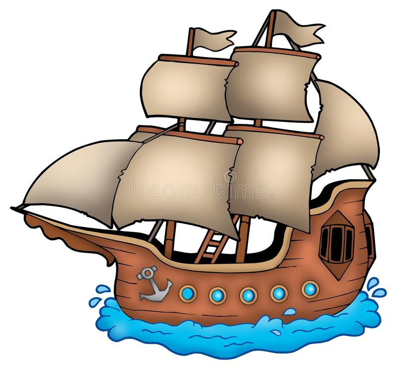 Old ship royalty free illustration