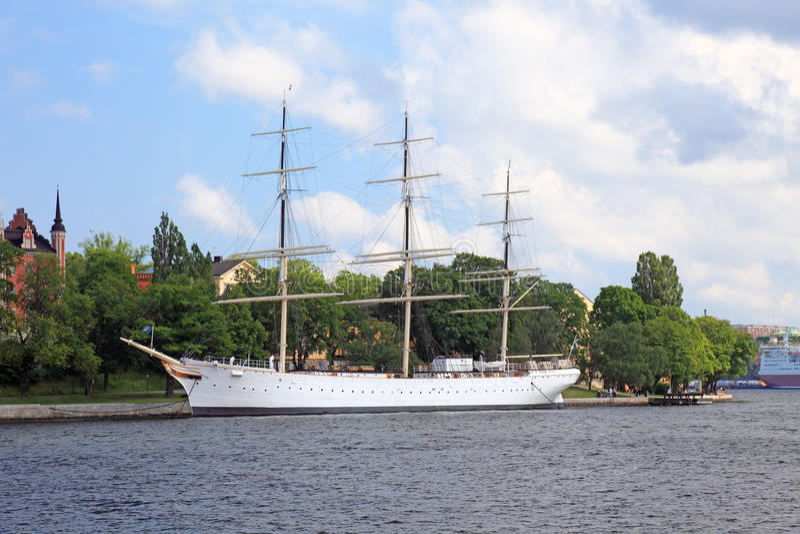 Download Old ship. stock photo. Image of city, sail, nordic, shiny - 11344630