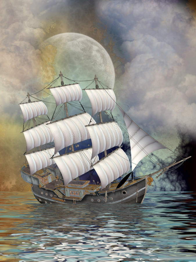 Download Old ship stock illustration. Image of scenario, wood - 25119833
