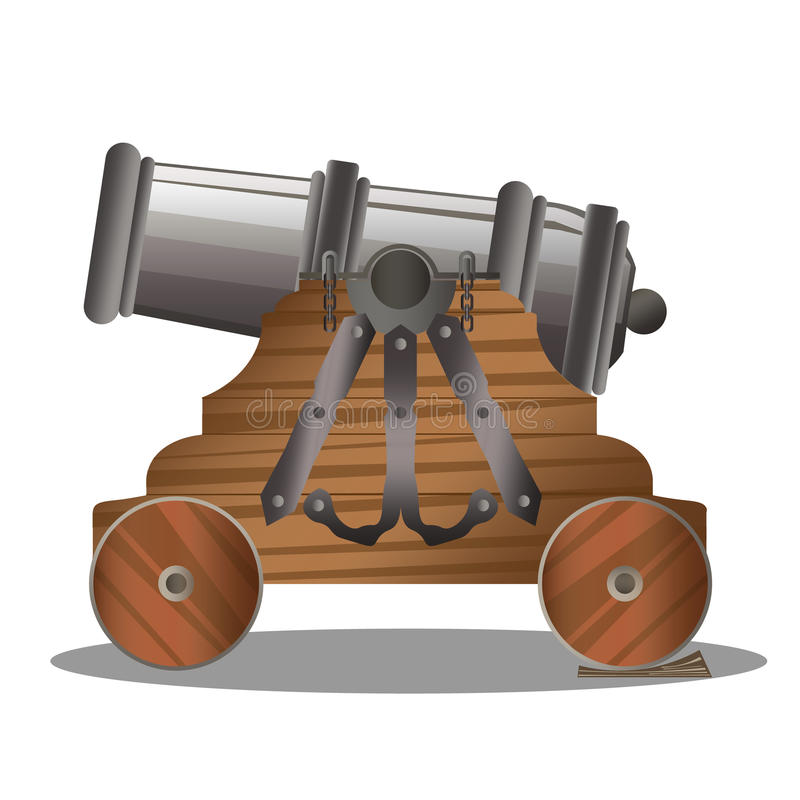 Old ship cannon royalty free illustration
