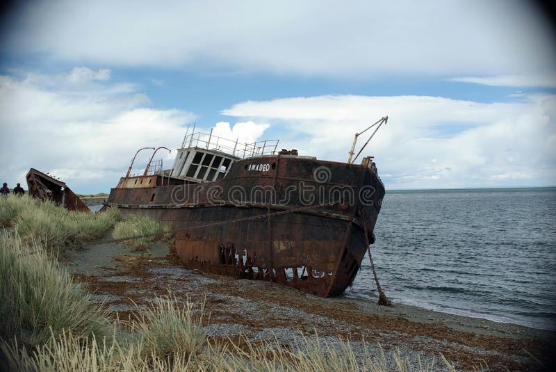 Download Old ship in Chile stock image. Image of scenery, beach - 26970205