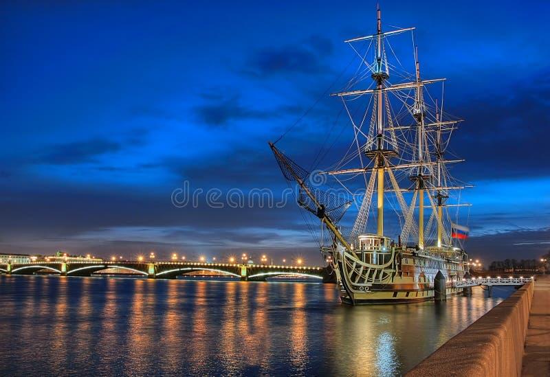 Old ship. St. Petersburg. stock photos