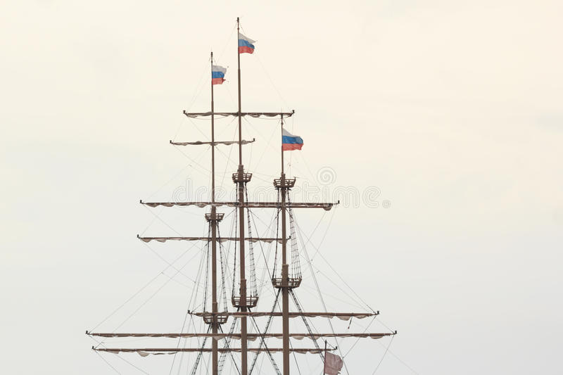 Old ship mast royalty free stock photo