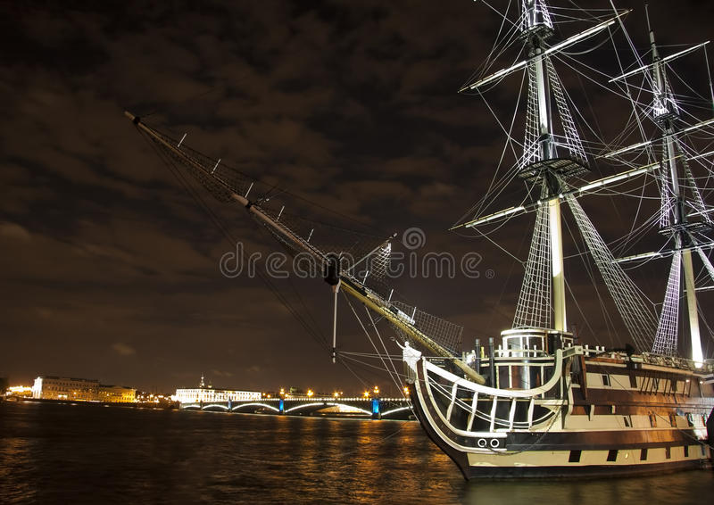 Download Old Ship On The Neva River Stock Images - Image: 21274834