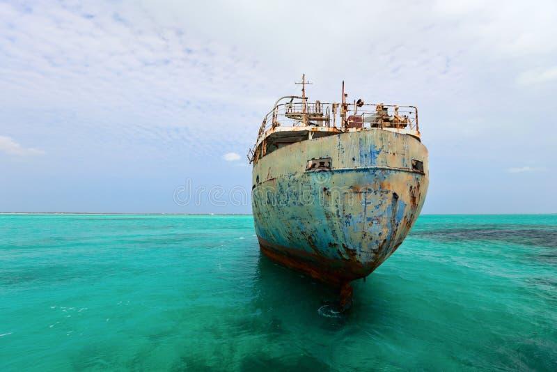 Download Old ship wreck stock image. Image of steel, damaged, metal - 27258267