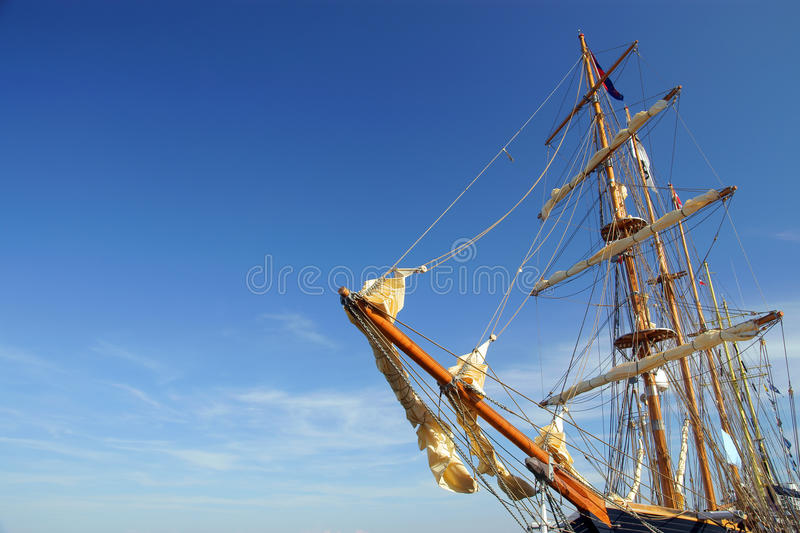 Download Old Ship Yard Arm Square Rigging Stock Photo - Image of clipper, blue: 10338148