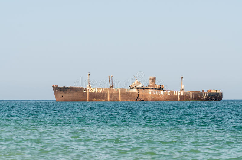 Old Shipwreck royalty free stock image