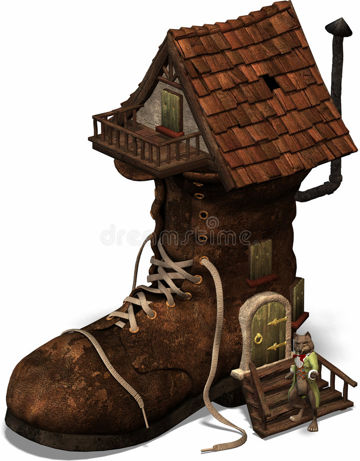 The old shoehouse vector illustration
