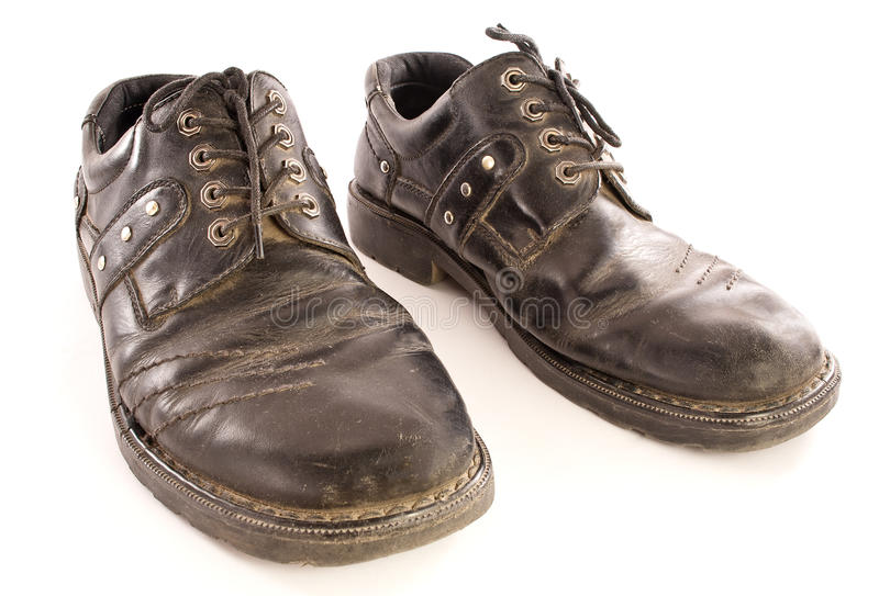 Old shoes. stock photography