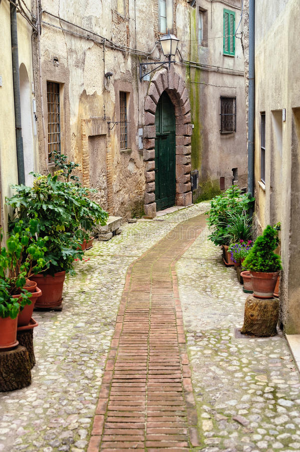 Download Old Sidewalk stock image. Image of district, italy, retro - 21781671