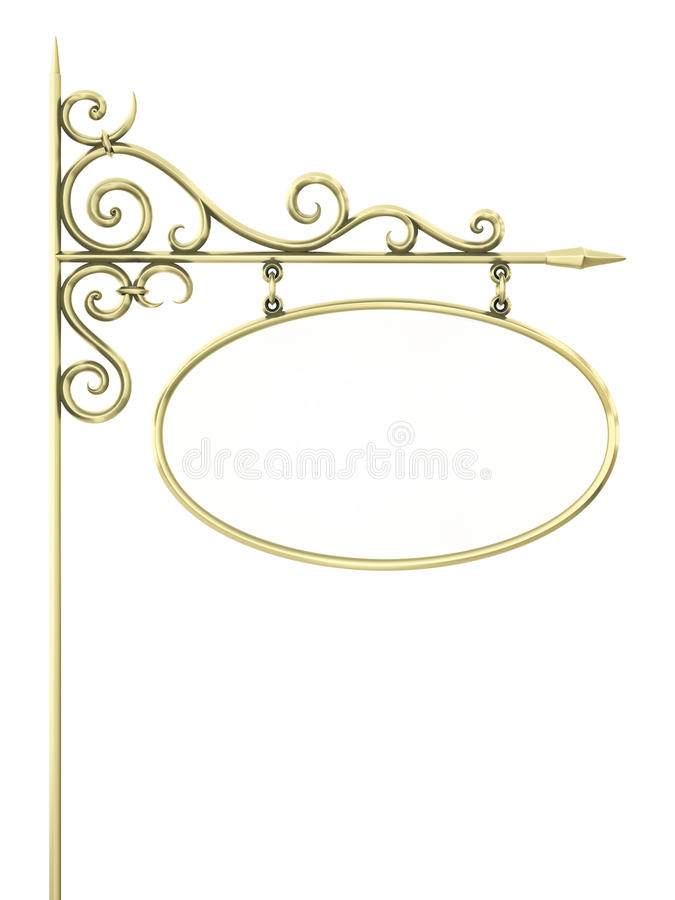 Download Old Sign stock illustration. Illustration of classic - 19838683