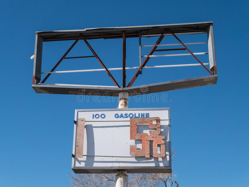 Old sign in the Nevada desert stock photo