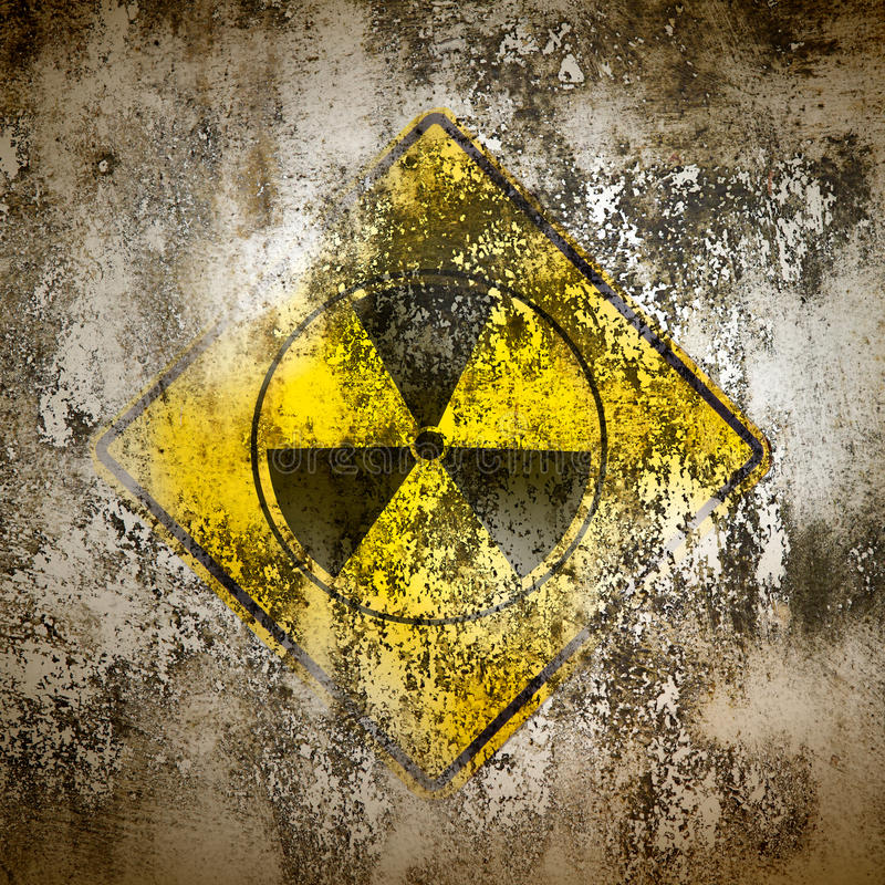 Old sign radiation on wall royalty free illustration