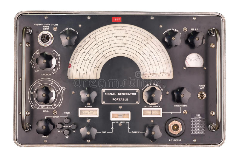 Download Old signal generator stock image. Image of electronic - 32014121
