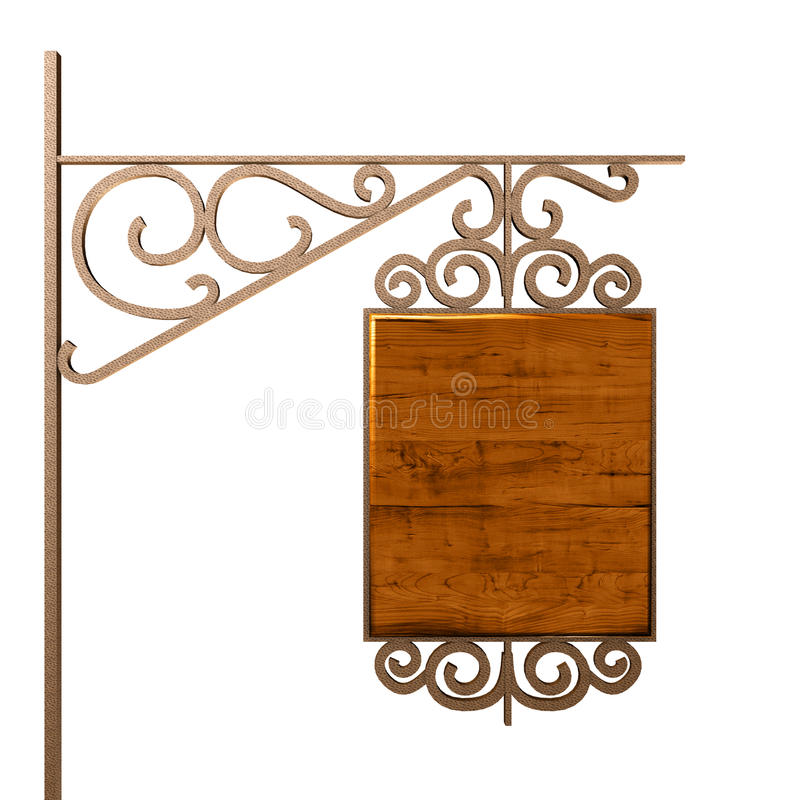 Download Old signboard. stock illustration. Image of gold, brass - 20366084
