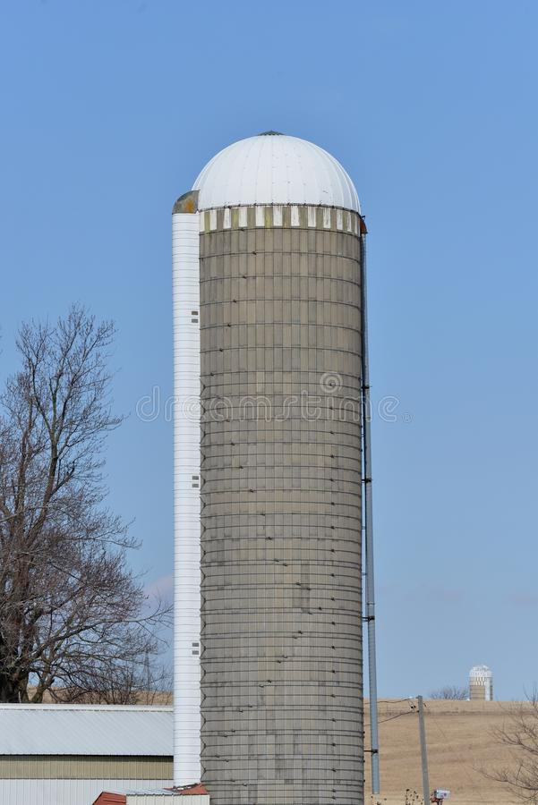 Old silo in southern Wisconsin royalty free stock image