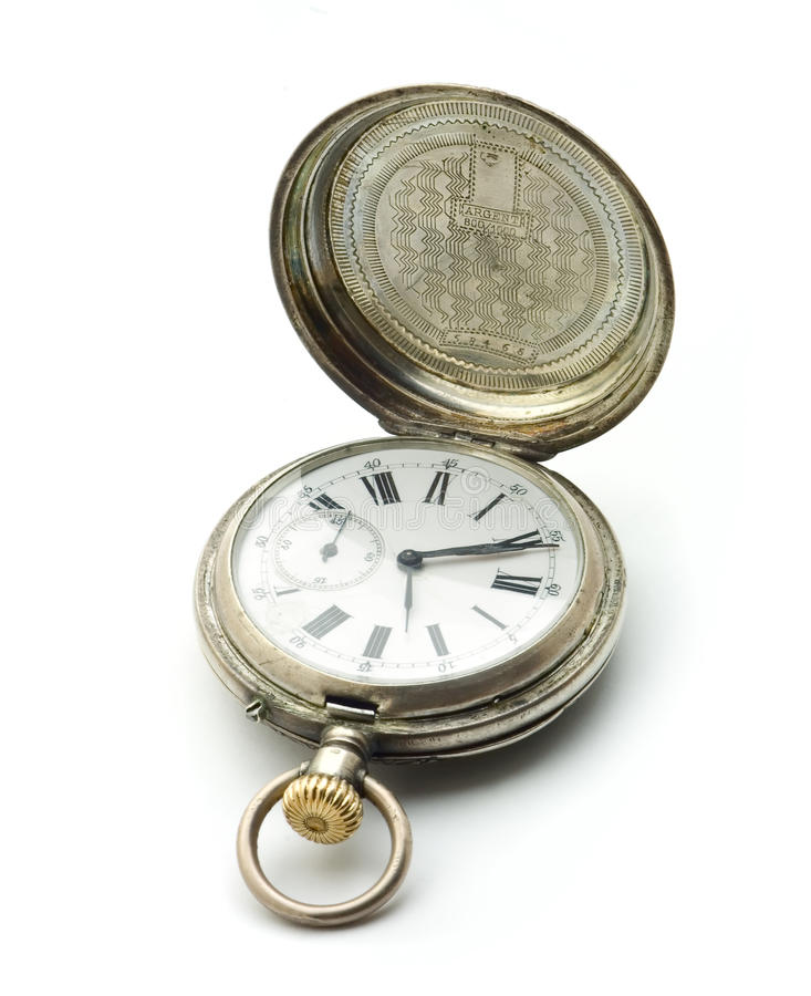 Download Old silver pocket clock stock photo. Image of legacy - 11629158