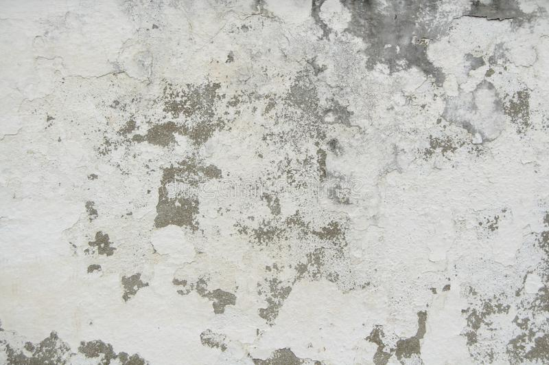 Seamless Old White Cement Wall Paint Cracks Texture for background and design art work. Old Simple White Cement Wall grungy. Texture for background and design stock photo