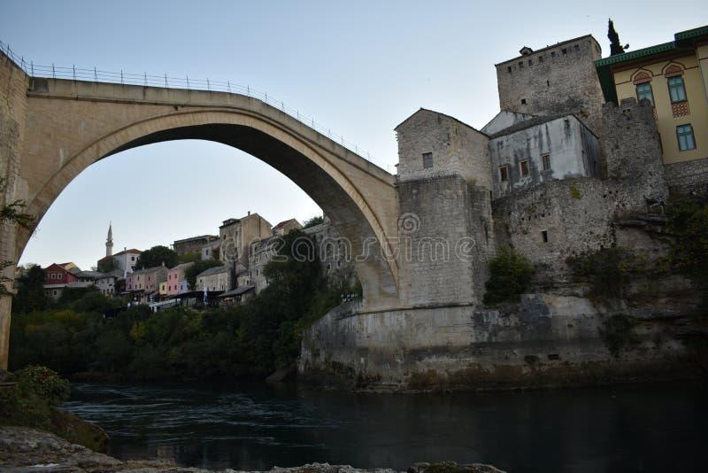 The old sixteenth century ottoman bridge in Mostar. Bosnia and Herzegovina,UNESCO world heritage royalty free stock image
