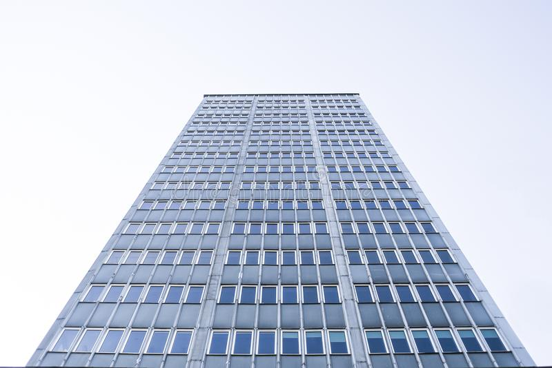 Old skyscraper, view from below. stock photos