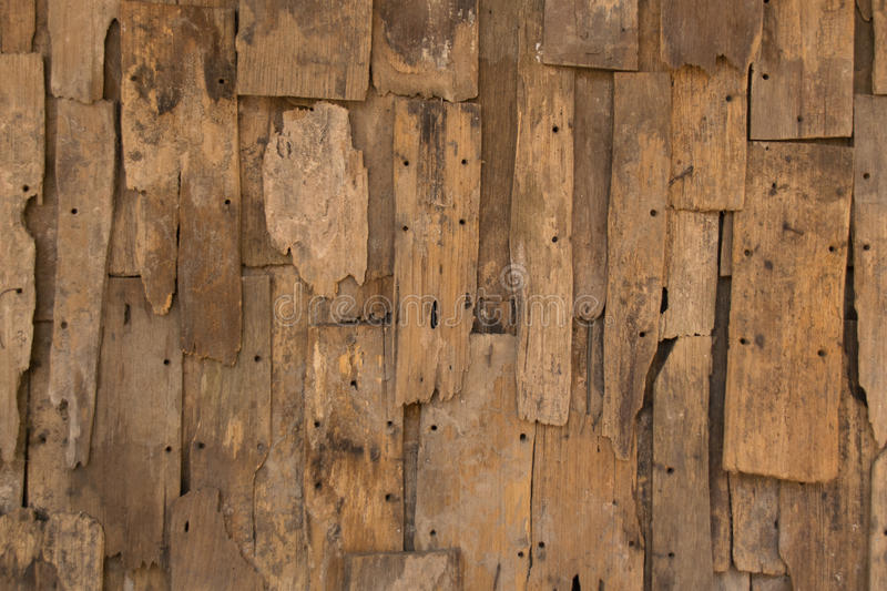 Old slat wood wall vintage texture and background stock photo