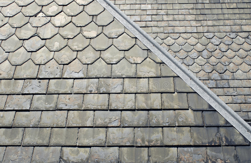 Old Slate Roof stock photos