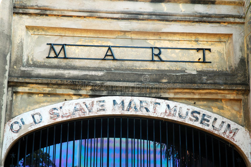 The Old Slave Mart Museum, Charleston, South Carolina. Formerly a Slave Market, the Old Slave Market Museum in Charleston, SC, Documents the Cruelty of the stock photography