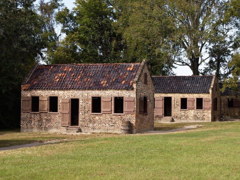 Old Slavery Cabins Stock Photos