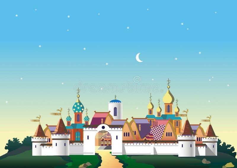 Old_Slavic_city στοκ φωτογραφία με δικαίωμα ελεύθερης χρήσης