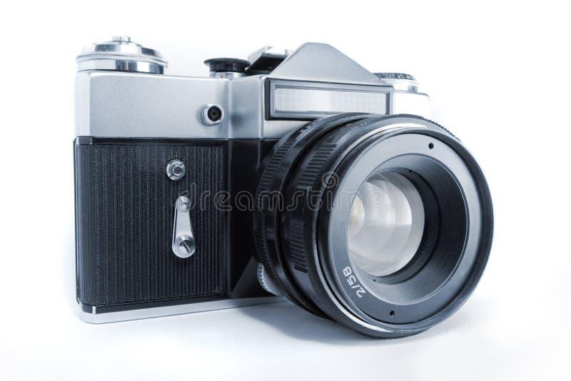 Old slr camera stock photo