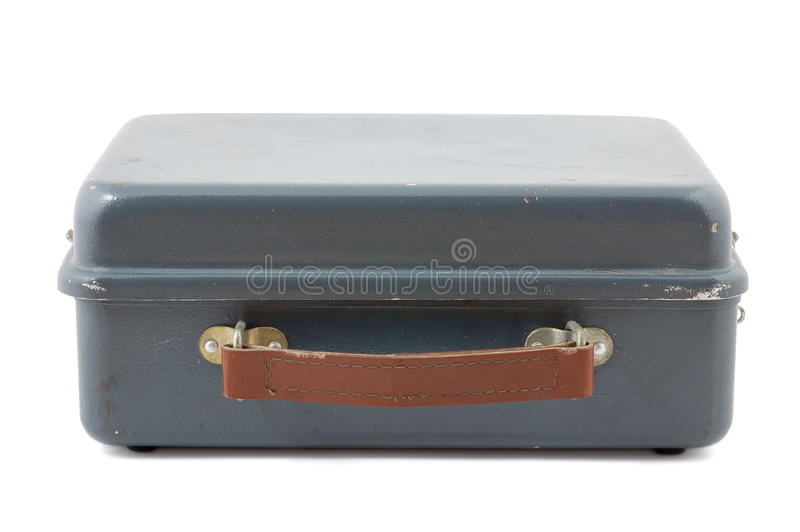 Old Small Metal Case Stock Photo
