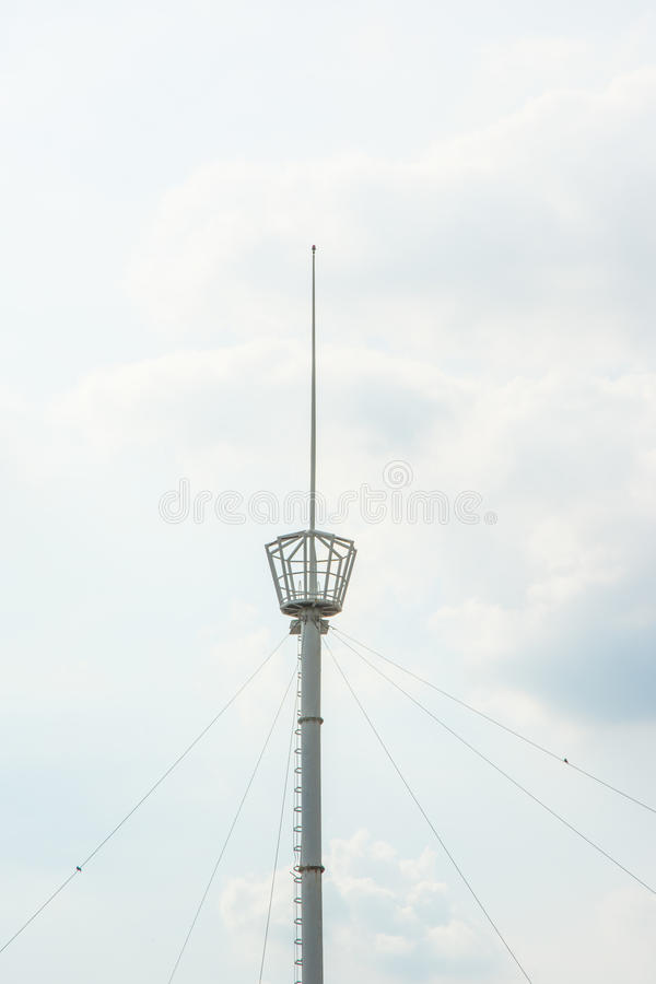 Old small steel watchtower traddition thai style royalty free stock photos