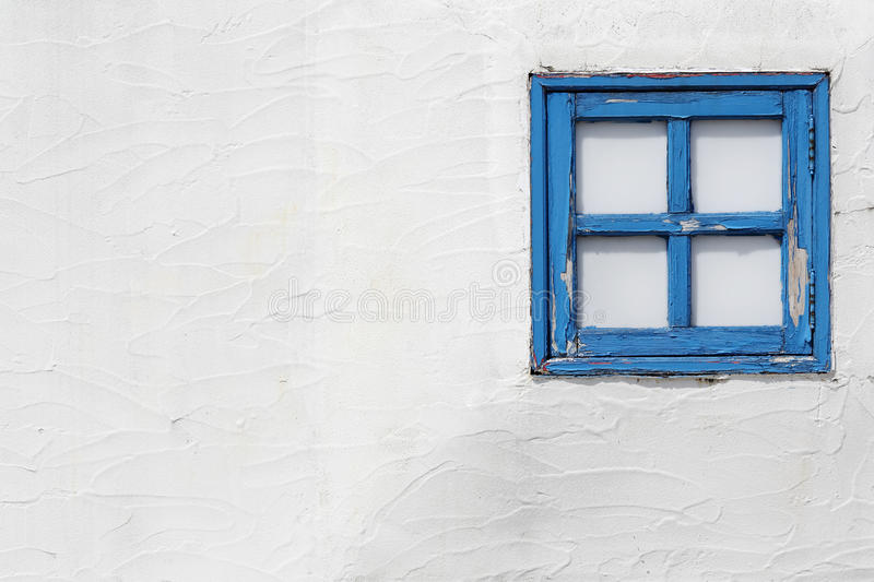 Old small wooden window stock photo