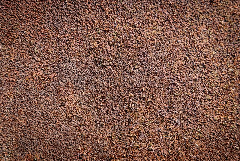 Old smooth metallic surface covered by rust royalty free stock image