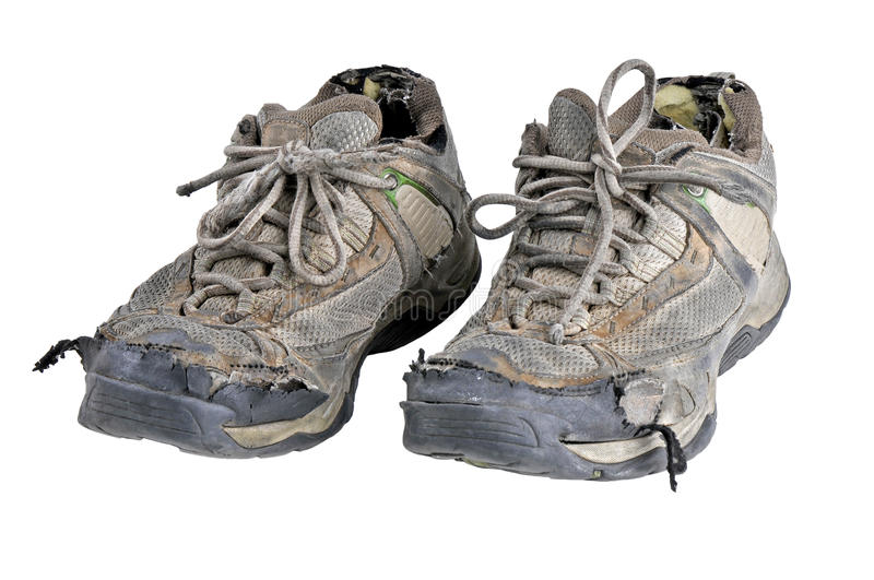 Download Old Sneakers stock image. Image of worn, photograph, running - 26599537