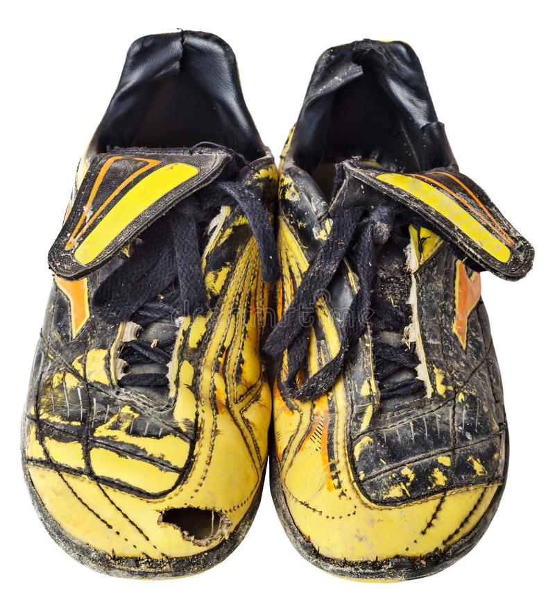 Free Old Soccer Boots Royalty Free Stock Photo - 44575885