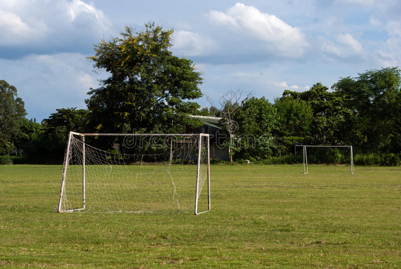 Download Old soccer goal stock image. Image of grass, game, goalline - 33339441