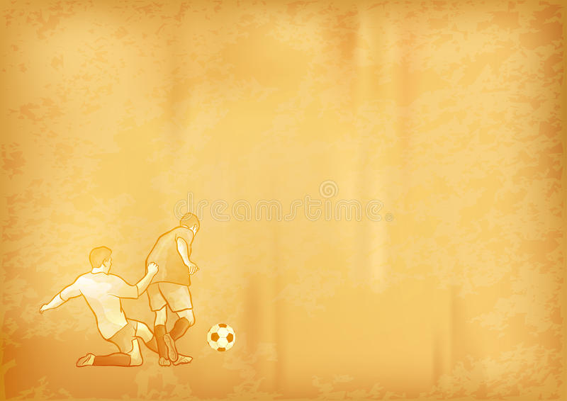 Old Soccer Paper Royalty Free Stock Images