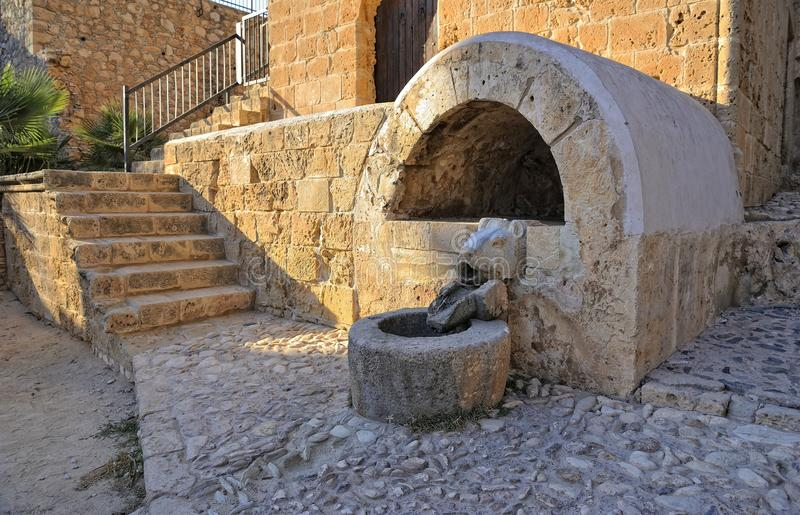 Old source of ancient Monastery of Agia Napa royalty free stock photos
