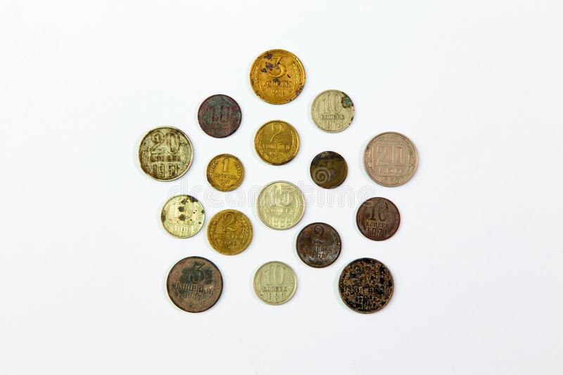 Old Soviet coins royalty free stock images
