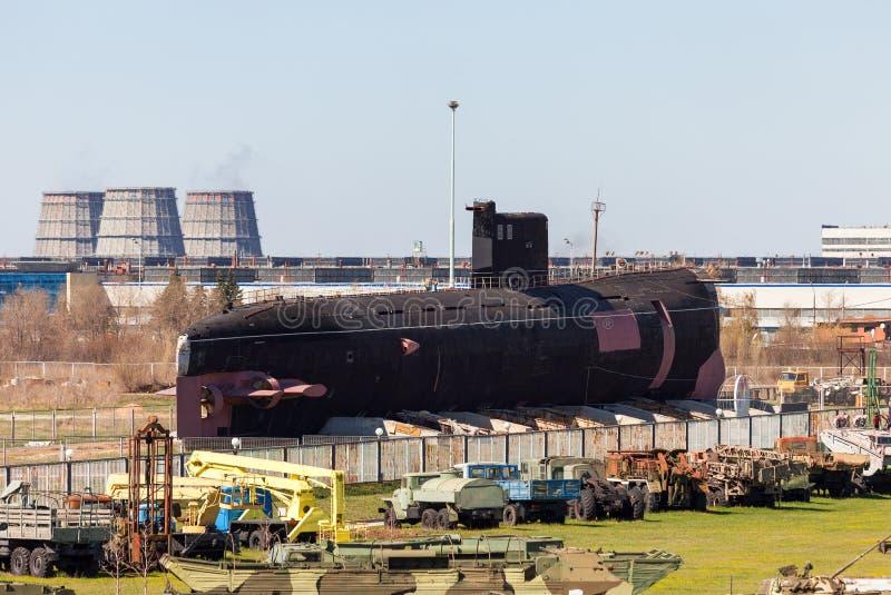 Old Soviet diesel submarine B-307 (Tango class) stock photography