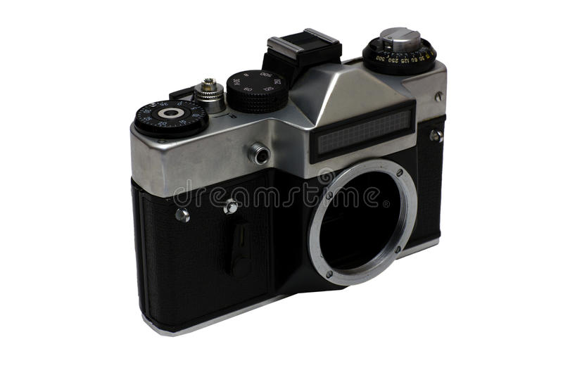 Download The old Soviet film camera stock image. Image of photography - 23259619