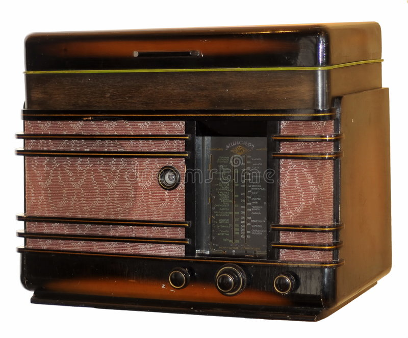 Old Soviet radio-gramophone royalty free stock images